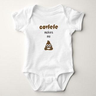 Covfefe makes me poop baby bodysuit
