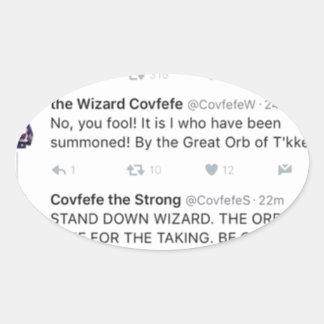 Covfefe Oval Sticker