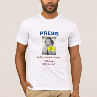 Covfefe Press #3 Design: T-Shirt (White)