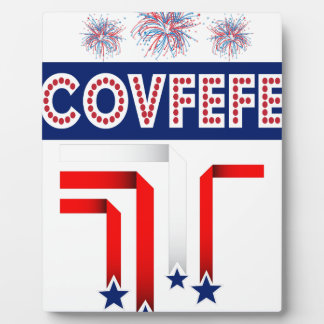 Covfefe Trump Joke for 4th of July Celebration Photo Plaques