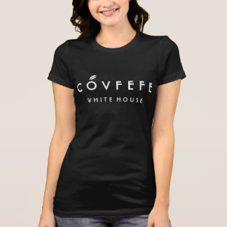 COVFEFE White House | Funny Women's Black Cotton T-Shirt