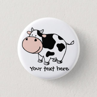 Cow 3 Cm Round Badge