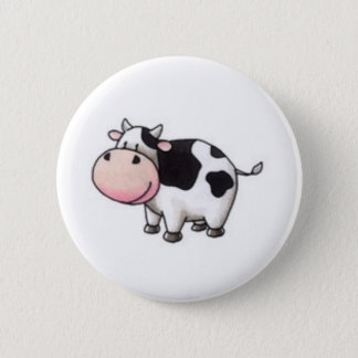 Cow 6 Cm Round Badge