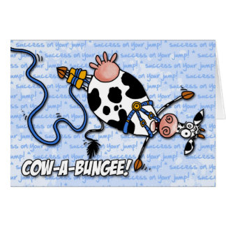 cow-a-bungee - success on your jump card