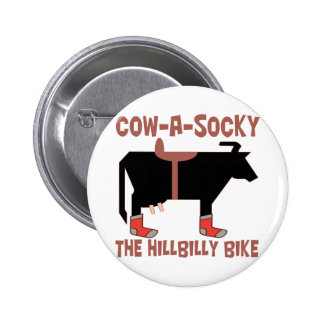 Cow A Socky 6 Cm Round Badge