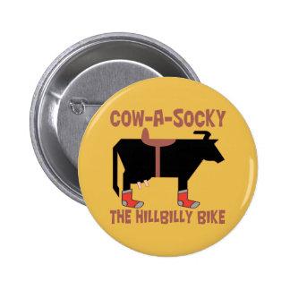 Cow A Socky The Hillbilly Bike Metal Pin