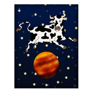 Cow Aims Higher, postcard