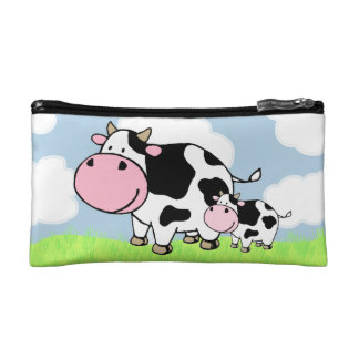 Cow and Baby Cosmetic Bags