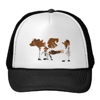 cow and calf trucker hats