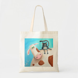 COW AND CAT BUDGET TOTE BAG
