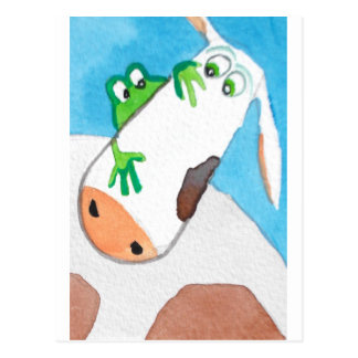 COW AND FROG POSTCARD