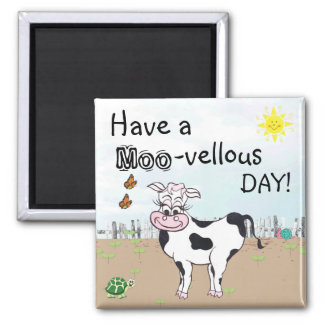 Cow and Little Critters - Fridge Magnet