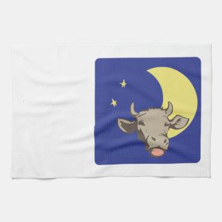 Cow And Moon Tea Towel