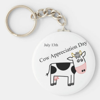 Cow Appreciation Day Just Another Holiday Basic Round Button Key Ring