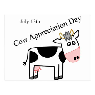 Cow Appreciation Day Just Another Holiday Postcard