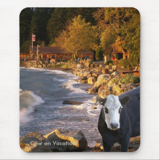 Cow at the Cabins Mouse Pad