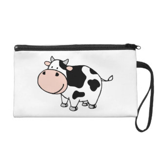 Cow Wristlet Purse