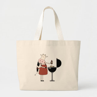 Cow Barbeque Tshirts and Gifts Jumbo Tote Bag