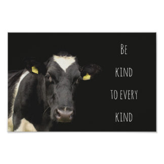 Cow || Be Kind to every kind Poster