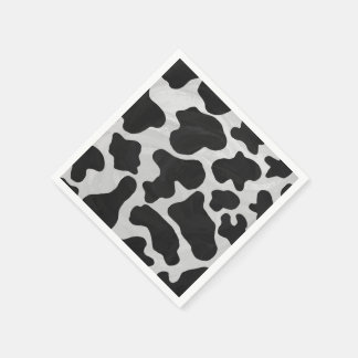 Cow Black and White Print Disposable Serviettes