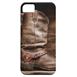 Cow Boy Boots Spur Country Rope Wood IPHONE 5 Case