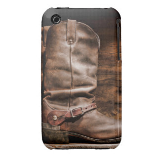 Cow Boy Boots Spur Monogram IPHONE 3 Cell Case iPhone3 Case