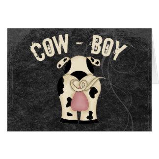 Cow-Boy Greeting Card