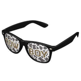 Cow Boy Cow pattern background Retro Sunglasses