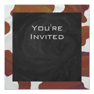 Cow Brown and White Print Personalized Announcements
