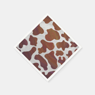 Cow Brown and White Print Paper Serviettes