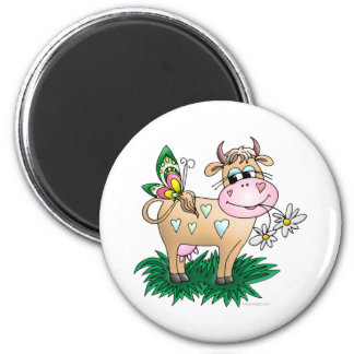 Cow Butterfly Magnet