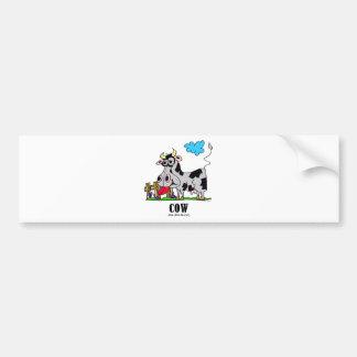 Cow by Lorenzo © 2018 Lorenzo Traverso Bumper Sticker
