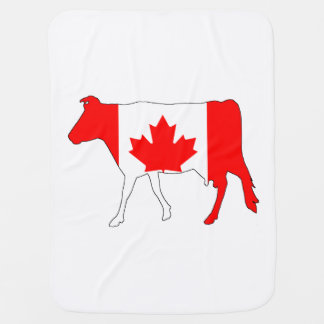 Cow Canada Receiving Blankets