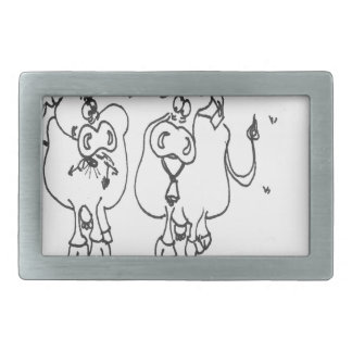 Cow Cartoon 3348 Belt Buckles
