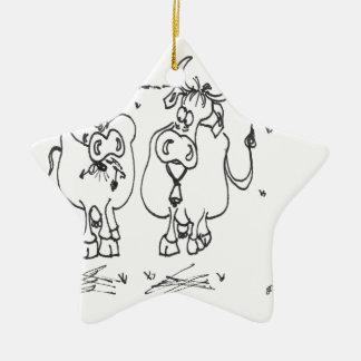 Cow Cartoon 3348 Ceramic Ornament