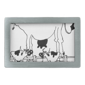 Cow Cartoon 3372 Belt Buckles