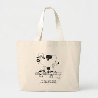 Cow Cartoon 3372 Large Tote Bag