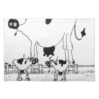 Cow Cartoon 3372 Placemat