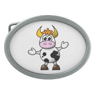 Cow cartoon belt buckle