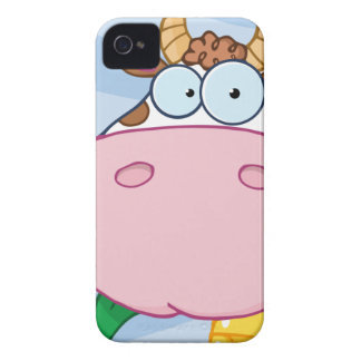 Cow Cartoon Character Case-Mate iPhone 4 Cases