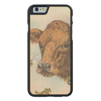 Cow Carved® Maple iPhone 6 Case