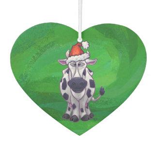 Cow Christmas On Green