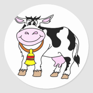 Cow Classic Round Sticker