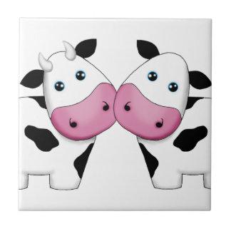 Cow Couple Ceramic Tile