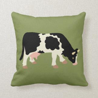 Cow Cowprint Cow Print Reversible Cotton Pillow