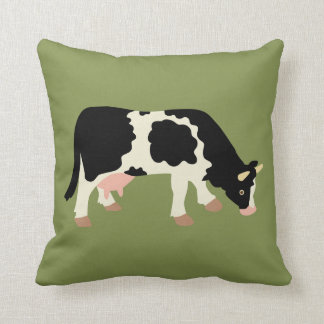 Cow Cowprint Cow Print Reversible Throw Pillow