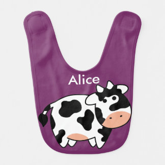 Cow Custom Baby Bib