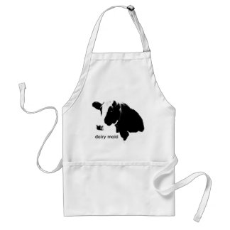 Cow Dairy Maid in the Kitchen Apron