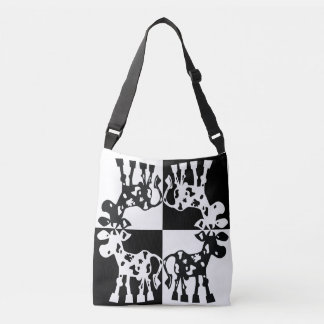 Cow Design in black and white Crossbody Bag