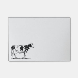 Cow Design Pencil Sketch Post-it® Notes